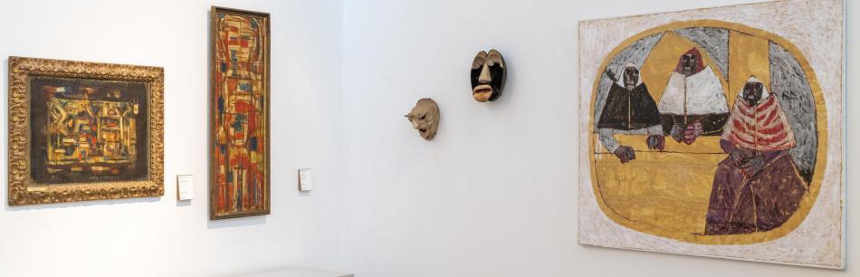 Salle XXe siècle, conjurer le réel entre abstraction et figuration © F. Deval, Musée des Beaux-Arts de Bordeaux