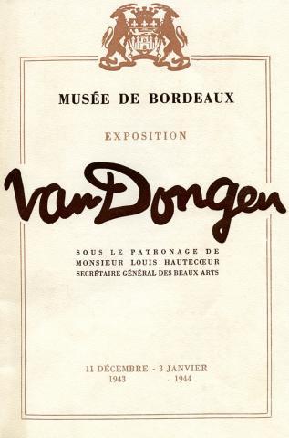 Couverture du catalogue de l'exposition Van Dongen, 1943-1944
