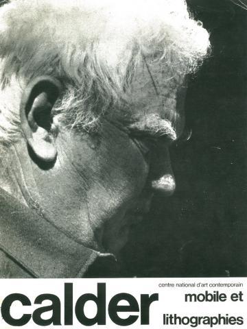 Couverture du fascicule accompagnant l'exposition de 1975, Calder
