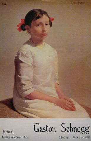 Image : Affiche de l'exposition Gaston Schnegg, Bordeaux, musée des Beaux-Arts, 1986