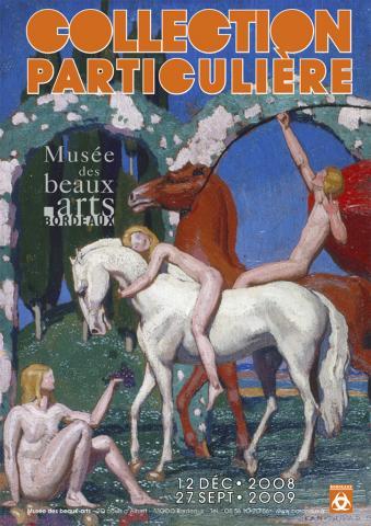Image de l'affiche de l'exposition Collection particulière présentée au musée des Beaux-Arts de Bordeaux