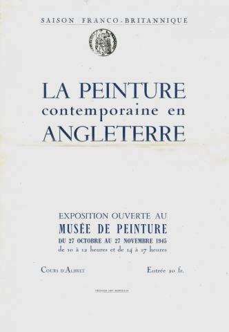 Image de l'affiche de l'exposition La Peinture contemporaine en Angleterre, 1945
