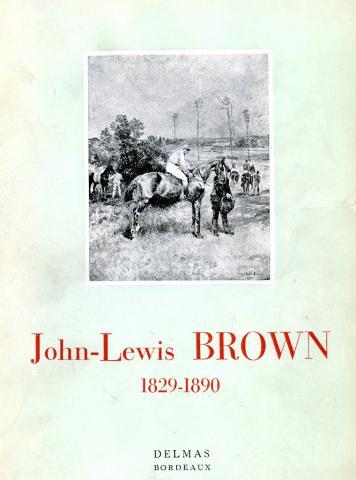 """Couverture du catalogue de l'exposition de 1953 """"John-Lewis Brown 1829-1890"""""""