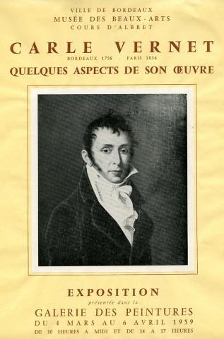 """Affiche de l'exposition de 1959 """"Carle Vernet"""""""