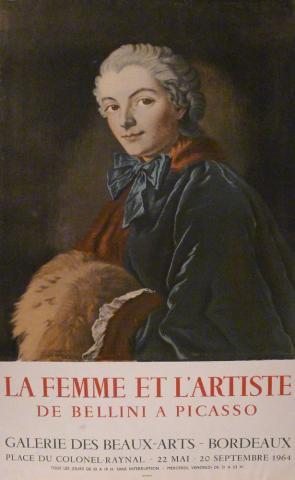 Affiche de l'exposition de 1964 La femme et l'artiste