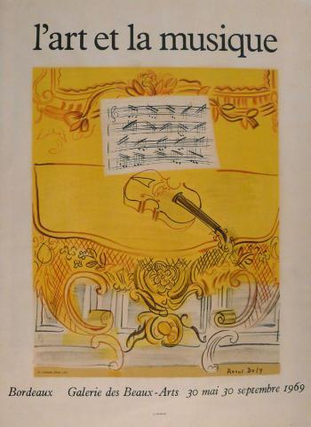 Affiche de l'exposition L'Art et la musique, 1969