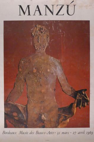 """Affiche de l'exposition """"Manzu"""", 1969"""
