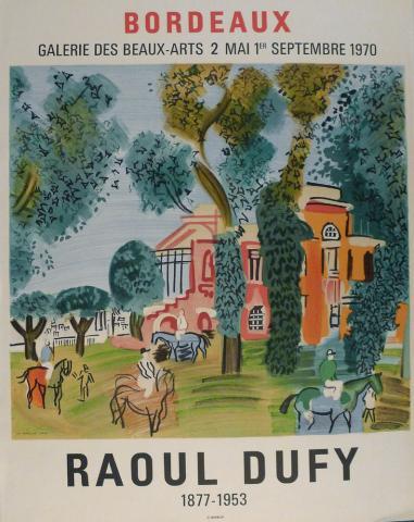 Affiche de l'exposition Dufy, 1970
