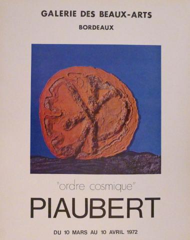 Affiche de l'exposition Piaubert, 1972