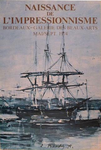 Image de l'affiche de l'exposition Naissance de l'impressionnisme, Bordeaux, 1974