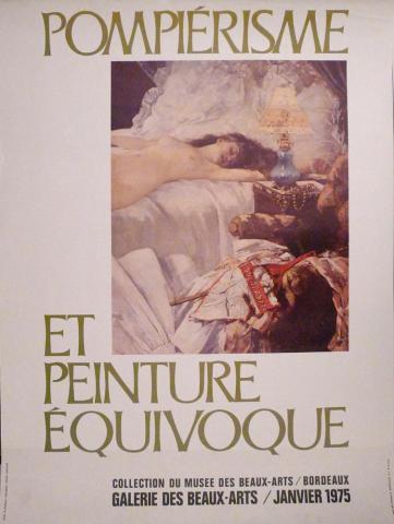 Image de l'affiche de l'exposition Pompiérisme et peinture équivoque, 1975