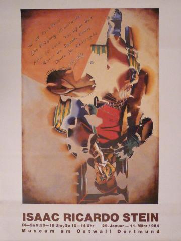 Affiche de l'exposition de 1984, Isaac Ricardo Stein
