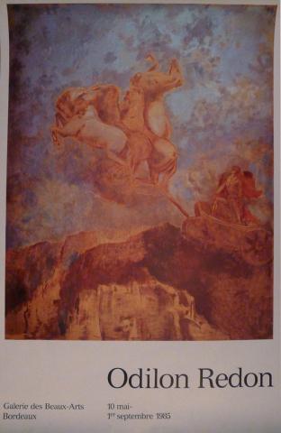 Image de l'affiche de l'exposition Odilon Redon, Bordeaux, 1985