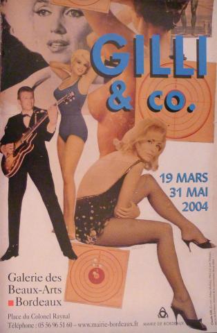 Image de l'affiche de l'exposition du musée des Beaux-Arts de Bordeaux en 2004 Claude Gilli