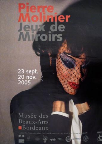 Affiche de l'exposition du Musée des Beaux-Arts de Bordeaux Pierre Molinier, 2005