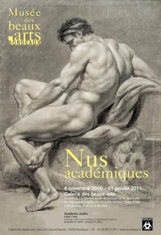 Image de l'affiche de l'exposition du Musée des Beaux-Arts de Bordeaux en 2010, Nus acacémiques
