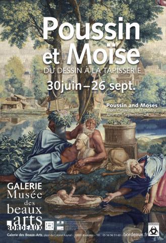 """Affiche pour lexposition """"Poussin-Moïse"""""""