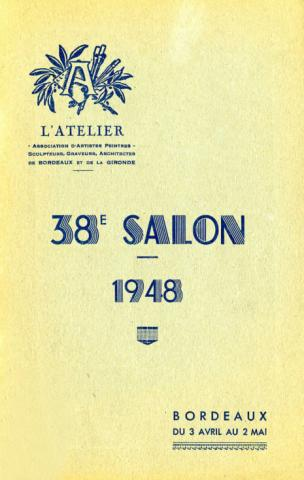 Couverture du catalogue du 38e Salon de l'Atelier qui présente l'exposition Du portrait d'apparat au portrait naturel