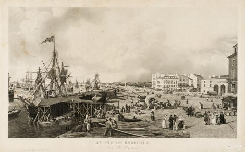 Image : Louis Garneray, Seconde vue de Bordeaux, prise des Chartrons. Bordeaux, musée des Beaux-Arts. Photo Frédéric Deval