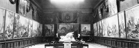 Image : Vue des salles du musée pendant l'exposition Goya de 1919