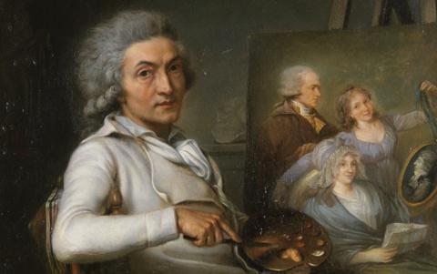 L'Artiste peignant un portrait de famille - Pierre Lacour Père - 1798