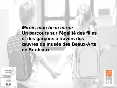 """""""Miroir mon beau miroir"""" un parcours sur l'égalité des filles et des garçons à travers les œuvres de la collection"""