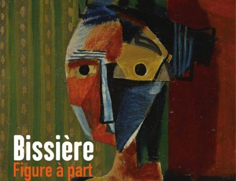 """Image : Détail de l'affiche de l'exposition Roger Bissière, """"Figure, 1936"""" Collection particulière"""