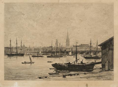 """Maxime Lalanne, """"À Bordeaux"""" 1866, musée des Beaux-Arts de Bordeaux"""