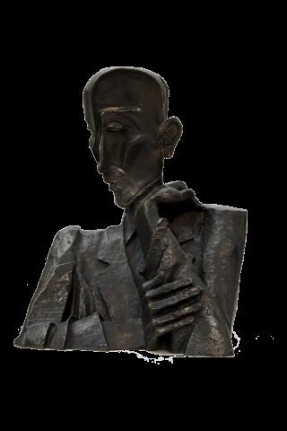 Buste de François Mauriac, Ossip Zadkine, 1943, musée des Beaux-Arts de Bordeaux