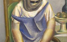 Image de La Jeune Fille au poisson. Roger Bissière. Collection du musée des Beaux-Arts de Bordeaux