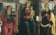 Vierge à l'enfant sur le trône entre Saint Jérôme et St Augustin© Musée des Beaux-Arts-mairie de Bordeaux. Cliché F.Deval