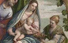 Paolo Véronèse, Sainte Famille avec le petit saint Jean, 16e siècle, Photo F. Deval