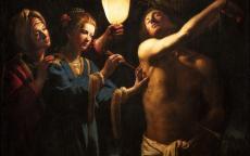 Maître à la chandelle, Saint Sébastien soigné par Irène, première moitié du 17e siècle