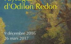 Affiche de l'exposition La nature silencieuse. Paysages d'Odilon Redon, présentée à la Galerie des Beaux-Arts de Bordeaux, 2016