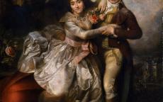 François-Louis Lonsing (1739-1799), <i>Portrait de Jean-Baptiste Mareilhac et de son épouse Jeanne- Emilie Bonneau de la Cure à l'impromptu</i>