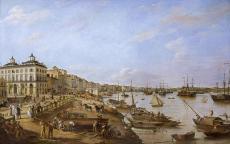 Pierre Lacour, Vue d'une partie du port et des quais de Bordeaux dits des Chartrons et de Bacalan (1804-1806)