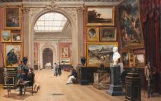 "Imagen del ""Salon des amis des arts de Bordeaux"", óleo sobre lienzo, Casimir Victor Paul, 1890, colección particular."