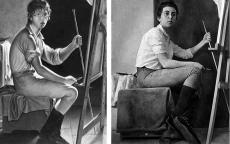 tussenkunstenquarantaine challenge Madeleine Aimée Lacour, Portrait de Pierre Lacour fils © Musée des Beaux-Arts de Bordeaux / Julie Tabary