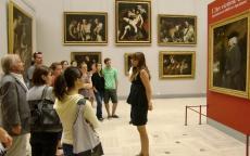 Photo d'une visite avec les enseignants © Musée des Beaux-Arts-mairie de Bordeaux. Cliché A.Desclaux
