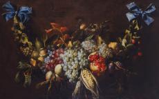 Alexander Coosemans, Guirlande de fruits, XVIIe © musée des Beaux-Arts de Bordeaux.