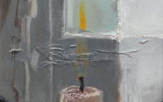 Détail d'un tableau de Buland, <i>Les héritiers</i> Ronan Charles