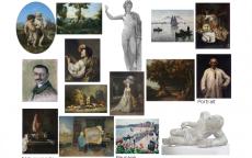 Fiche avec des oeuvres du musée