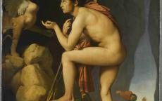 Ingres, Œdipe explique l'énigme du sphinx, 1808, musée du Louvre © 2010 RMN / RMN / Stéphane Maréchalle.