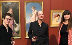 Tristan Chenevez, Stéphane Rougier et Isabelle Beccia au musée des Beaux-Arts de Bordeaux