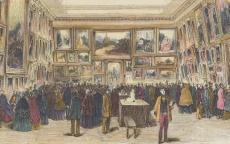 Salon d'exposition pour la peinture - P. B. Monogramme - 1853