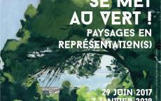 affiche le musée se met au vert