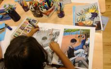 Photo d'un atelier enfants à la Galerie