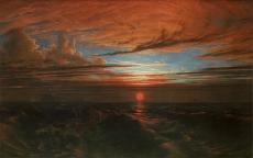 Francis Danby, Coucher de soleil sur la mer après une tempête (Sunset at Sea after a Storm) 1824, huile sur toile © Bristol, Bristol Museum & Art Gallery.