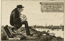 Image : Carte de visite de Pierre Teyssonnières, 1869. Bordeaux, musée des Beaux-Arts. Photo Frédéric Deval