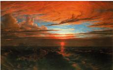 Francis Danby, <i>Coucher de soleil sur la mer après une tempête (Sunset at Sea after a Storm)</i>, 1824.